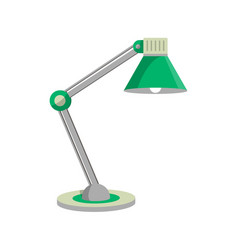 old style desk lamp icon in flat style vector image