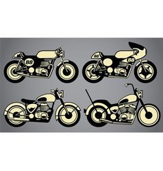old vintage motorcycles vector image