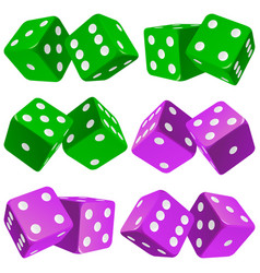 pair of dice icon set vector image
