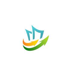Paper business arrow logo vector