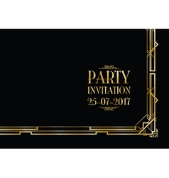 party invitation art deco vector image
