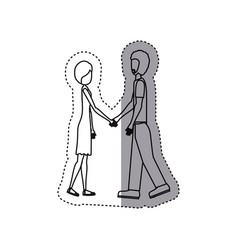 People in love couple icon vector