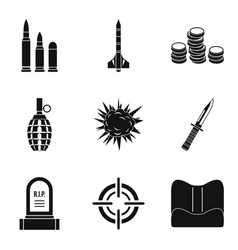 Punishment icons set simple style vector