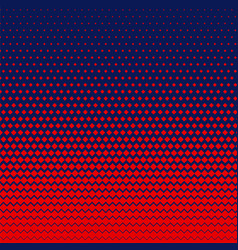 Red rhombus shape halftone background vector