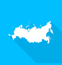 Russian federation map with long shadow vector