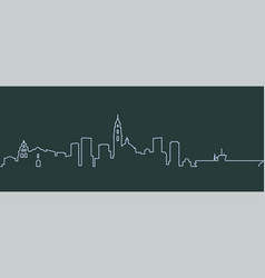 san diego single line skyline vector image