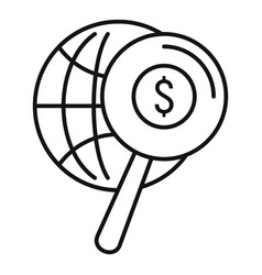 search global money icon outline style vector image
