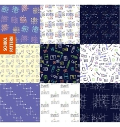 Set seamless pattern on the topic of education at vector image