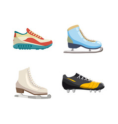 sport shoes icon set cartoon style vector image
