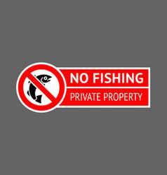 Sticker no fishing vector