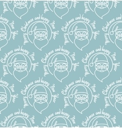 Stylish Merry Christmas seamless pattern with vector image