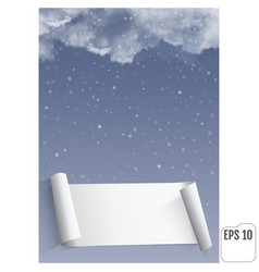 Thunderclouds against the background of snowfall vector