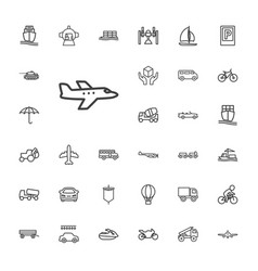 Transport icons vector