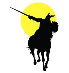 Viking horseman vector image