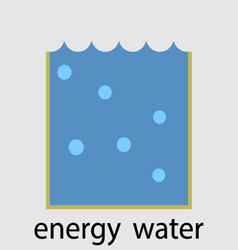 Water energy icon flat design concept vector image