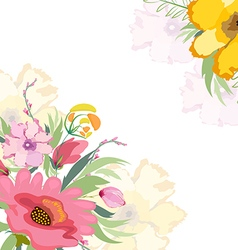 Watercolor flowers lily background vector image