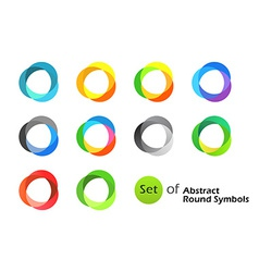 Abstract Round Symbols vector image vector image
