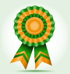 award a star two color green and orange vector image