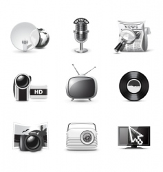 media icons | bw series vector image vector image