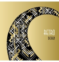 Background with golden white black art deco vector image vector image