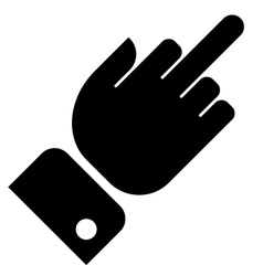 Hand showing middle finger gesture vector