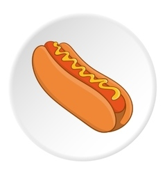 Hot dog icon isometric style vector image vector image