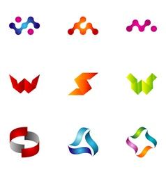 logo design elements set 44 vector image