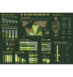 Military and army forces infographics vector image