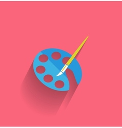 Painting icon concept flat design vector image
