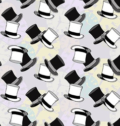 Seamless Watch Hat Pattern vector image