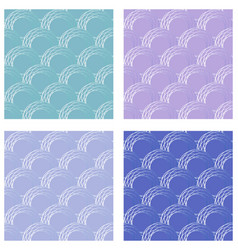 set of seamless fine circle patterns circle flaky vector image vector image