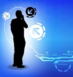 Telecommunication concept background design vector