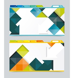 Web design navigation set vector image vector image