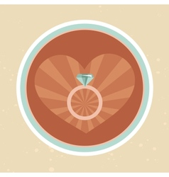wedding concept inretro style vector image