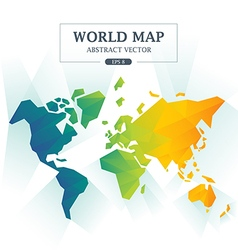 World Map Abstract Full Color vector image vector image