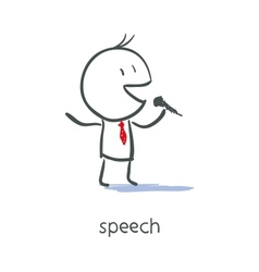 Businessman Talking On Microphone vector image vector image