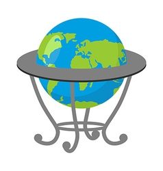 Globe on stand Model of Earth School geographical vector image