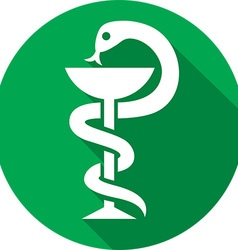 Medical Snake Icon vector image vector image