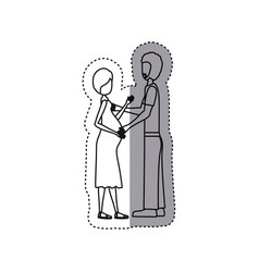 people pregnant woman and her husband icon vector image
