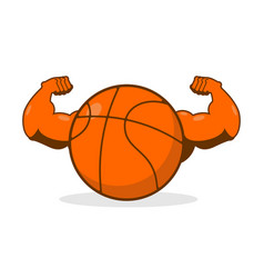 strong basketball powerful gaming accessory vector image vector image