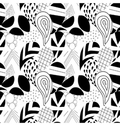 Textured geometrical paisley Seamless pattern vector image