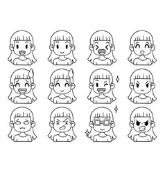 003 hand drawn doodle collection cute funny vector