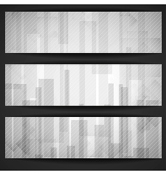 Abstract White Rectangle Shapes Banner vector image