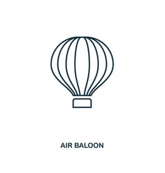 Air ballon icon outline style icon design ui vector