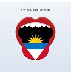 Antigua and Barbuda language Abstract human tongue vector image