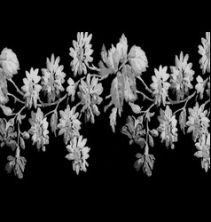 B n w floral background texture vector