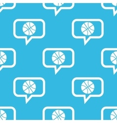 Basketball message pattern vector