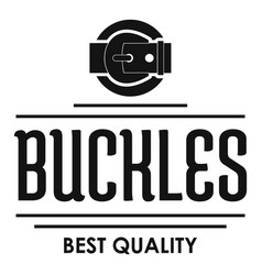 Buckle quality logo simple black style vector