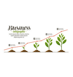 business concept infographic template for vector image