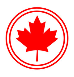 Canadian maple red leaf logo symbol sign icon vector